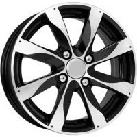 КиК Джемини 5.5x14 4x100 ET49 D56.6 Алмаз-черный